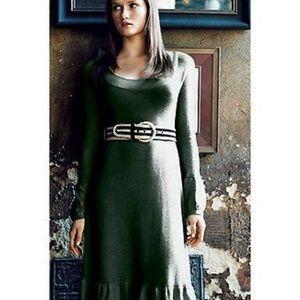 Anthropologie-Viola Green Dandelion Sweater Dress